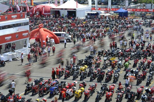 Warming Up For World Ducati Week 2014
